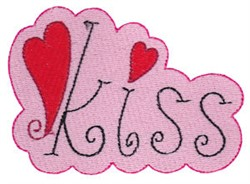 Kiss embroidery design