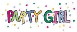 Party Girl embroidery design
