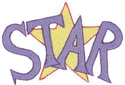 Be A Star embroidery design