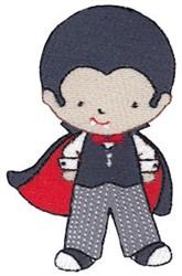 Tiny Dracula embroidery design