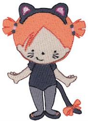 Tiny Black Cat embroidery design