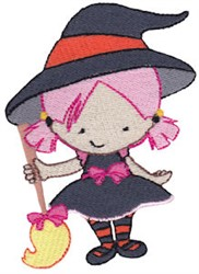Tiny Witch embroidery design
