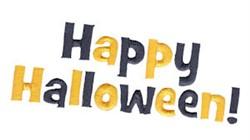 Happy Halloween! embroidery design