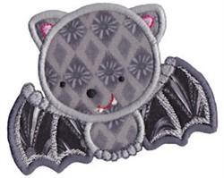 Halloween Bat Applique embroidery design