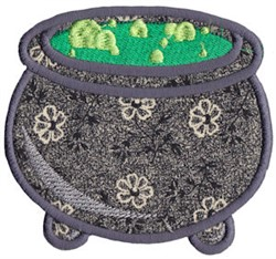 Halloween Cauldron Applique embroidery design