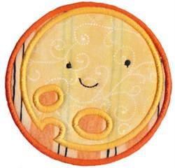 Halloween Full Moon Applique embroidery design