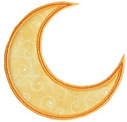 Halloween Crescent Moon Applique embroidery design