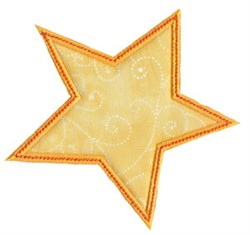 Halloween Star Applique embroidery design