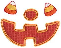 Halloween Face Applique embroidery design