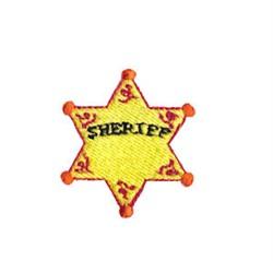 Western Mini Sheriffs Badge embroidery design