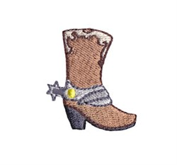 Western Mini Cowboy Boot embroidery design