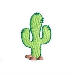 Western Mini Cactus embroidery design