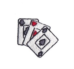 Western Mini Playing Cards embroidery design