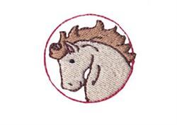Western Mini Stallion embroidery design