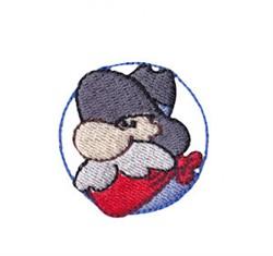 Western Mini Old Man embroidery design
