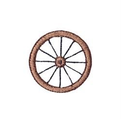 Western Mini Wagon Wheel embroidery design
