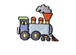 Western Mini Train Engine embroidery design