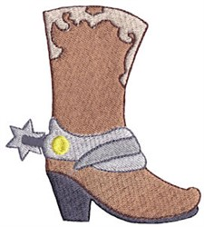 Wild West Cowboy Boot embroidery design