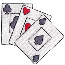 Wild West Playing Cards embroidery design