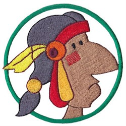 Wild West Native American embroidery design