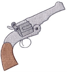 Wild West Revolver embroidery design