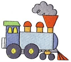 Wild West Train Engine embroidery design