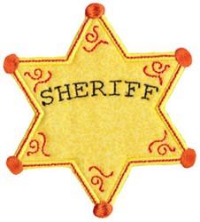 Sheriffs Badge Applique embroidery design