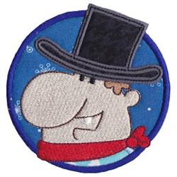 Wild West Man Applique embroidery design