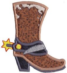 Cowboy Boot Applique embroidery design