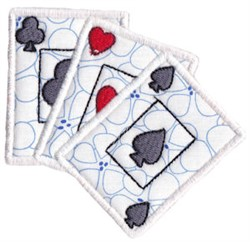 Playing Cards Applique embroidery design
