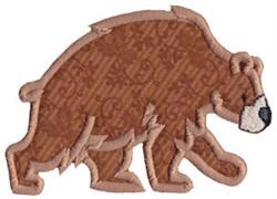 Wild West Bear Applique embroidery design