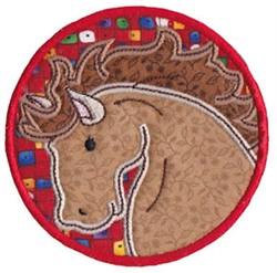 Wild West Stallion Applique embroidery design
