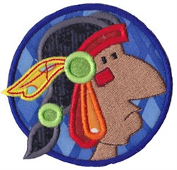 Native American Man Applique embroidery design
