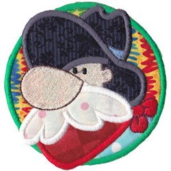 Old Man Applique embroidery design