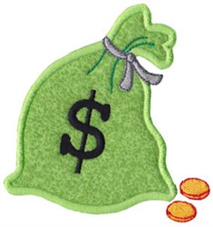 Money Bag Applique embroidery design