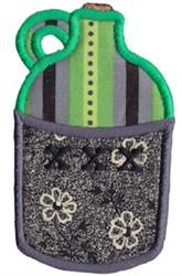 Moonshine Jug Applique embroidery design