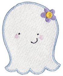 Happy Halloween Ghost embroidery design