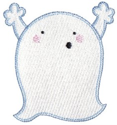 Woohoo Ghost! embroidery design