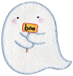 Little Ghost & Sign embroidery design