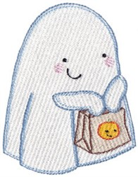 Trick or Treating Ghost embroidery design