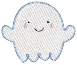 Floating Happy Ghost embroidery design