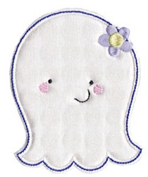 Ghost & Flower Applique embroidery design