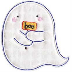 Halloween Ghost Applique embroidery design