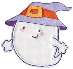 Witchy Ghost Applique embroidery design