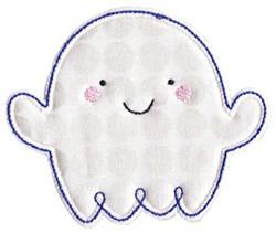 Happy Ghost Applique embroidery design