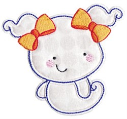 Pigtail Ghost Applique embroidery design