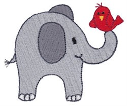 Happy Little Elephant embroidery design