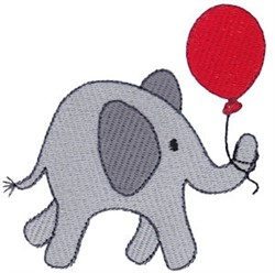 Little Elephant & Balloon embroidery design