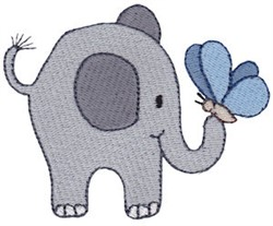 Little Elephant & Butterfly embroidery design