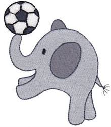 Little Elephant & Soccer Ball embroidery design